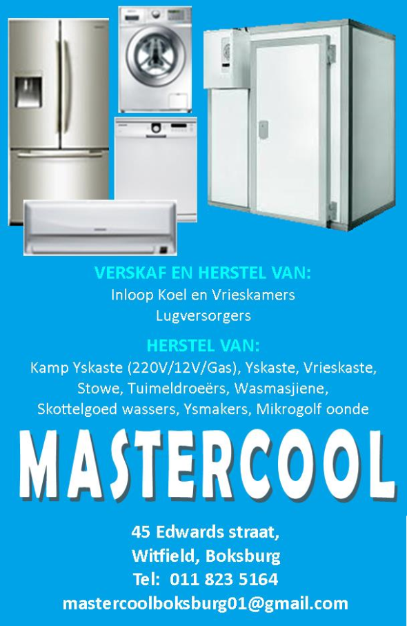 Master Cool Appliances - Appliance Repairs and/or Parts