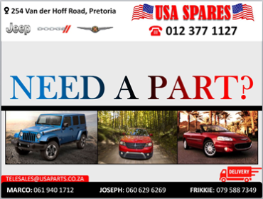 We stock used parts on Jeep, Chrysler and Dodge, from alternators to Diffs, whatever your needs call us now for the best deals.